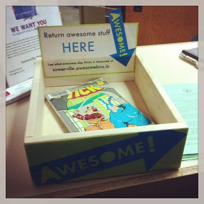 The awesome box at the Somerville Public LIbrary