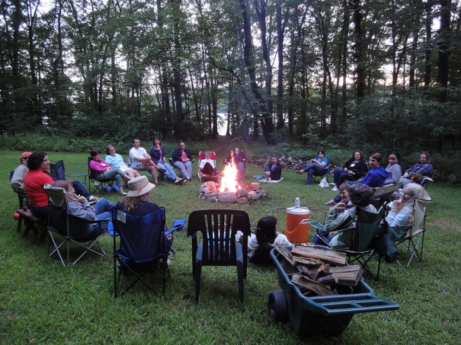 This is what a librarian campfire looks like. (Photo: Jenny Arch)