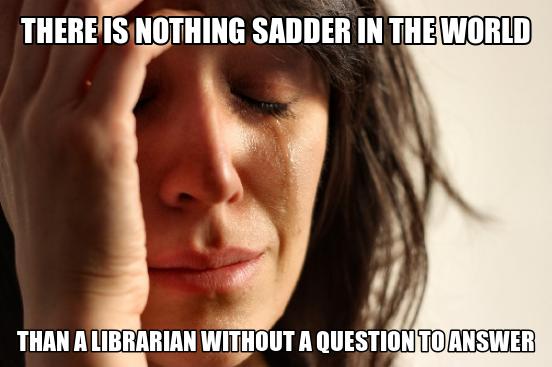 sad librarian