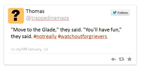 Maze Runner tweet