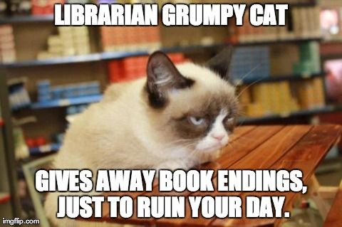 We also made buttons with our button maker - a LITERAL dream come true to work in a library with a button maker - with grumpy cat on them. YES!